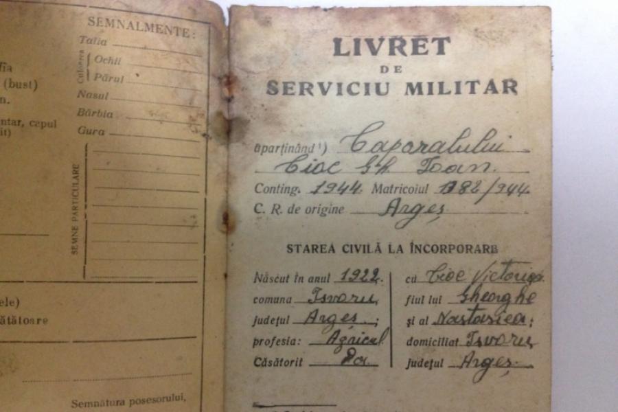 Livret militar din Al Doilea Război Mondial