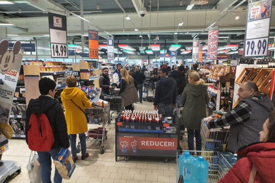 Coadă supermarket