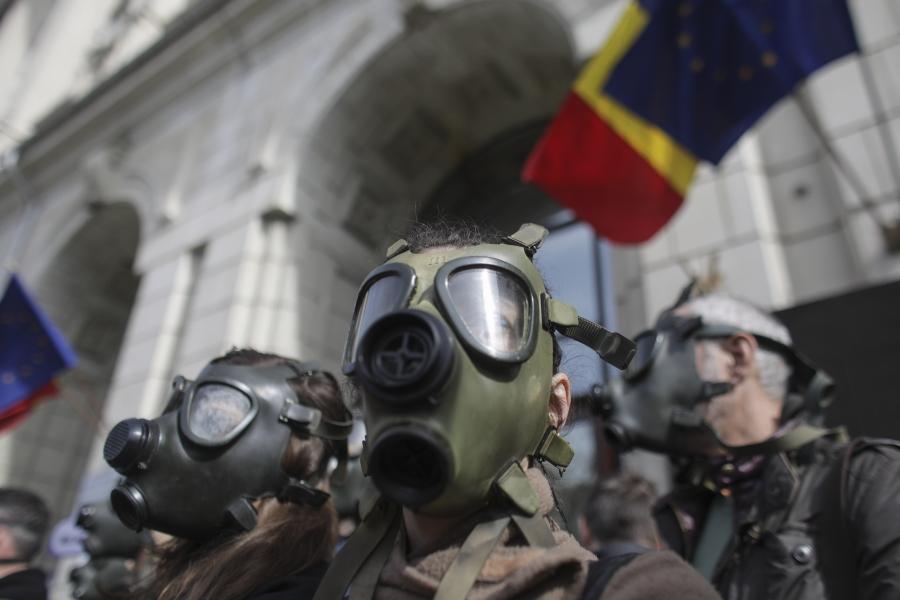 Poluare Bucuresti - protest - Inquam Photos / Octav Ganea