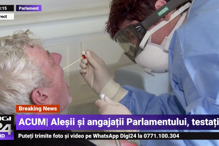 testare coronavirus in Parlament