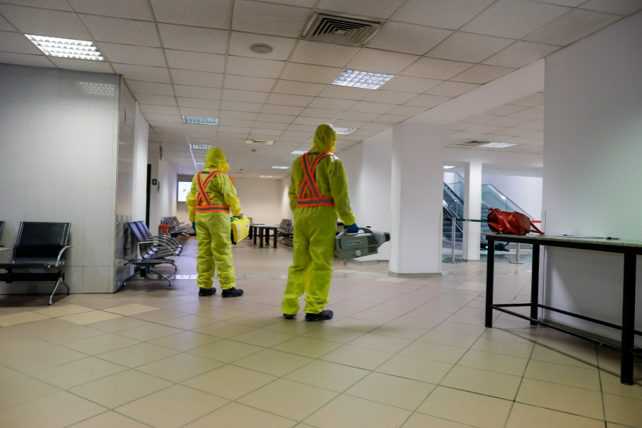 Aerorportul Otopeni, dezinfecție