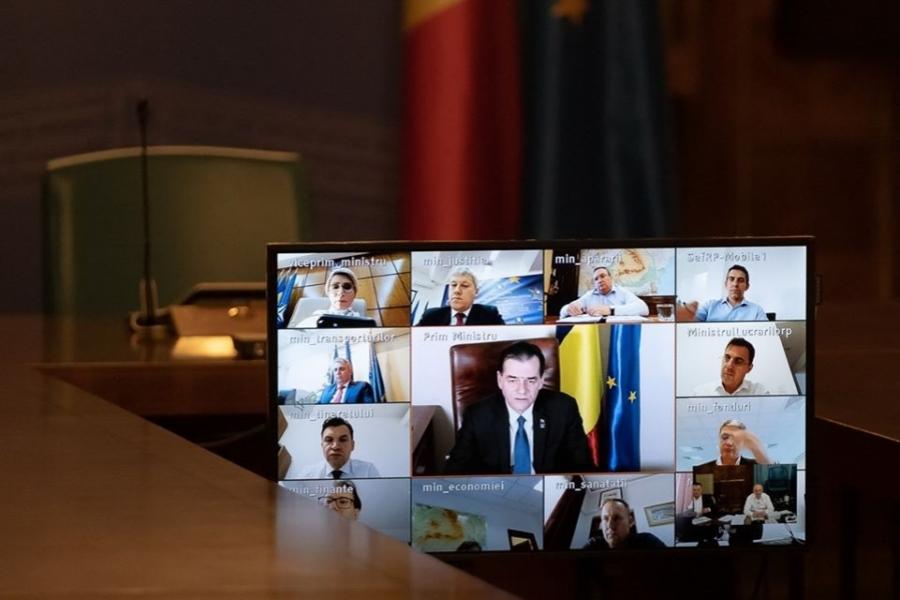Ludovic Orban - video sedinta - Foto: Facebook/Guvernul României