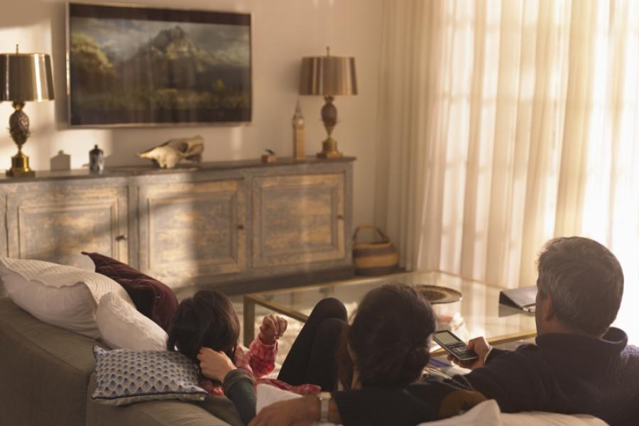 familie pe canapea