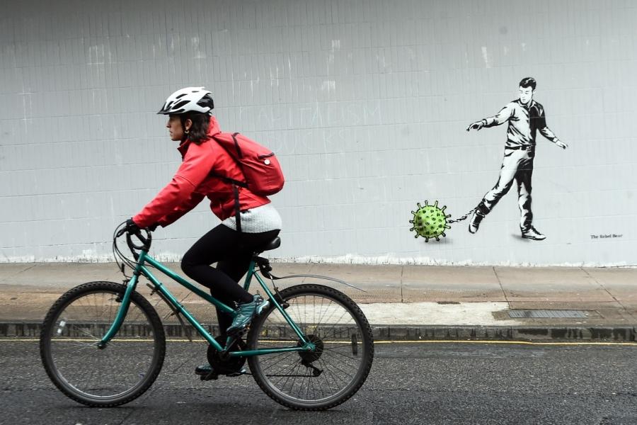 bicicleta - coronavirus - Foto ANDY BUCHANAN / AFP / Profimedia Images