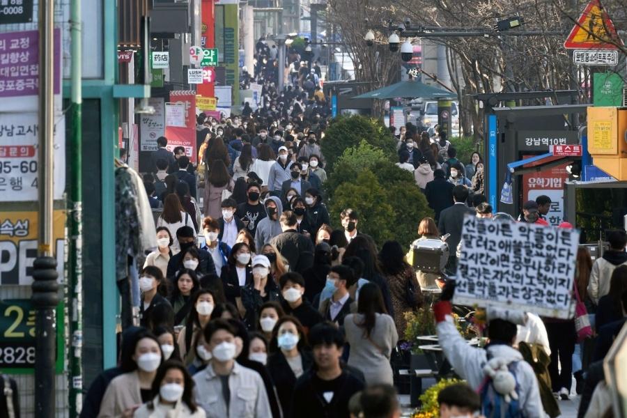 Oameni pe stradă, Coreea de Sud