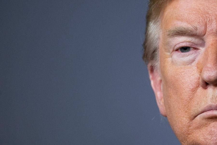 Donald Trump, half