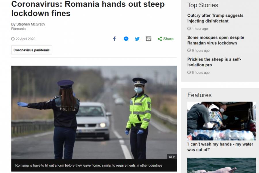 BBC despre amenzile din România