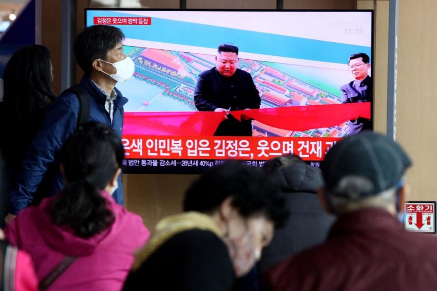 Kim Jong-un la TV -  Foto Guliver/Getty Images
