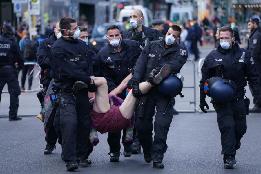 Protest anticovid Berlin