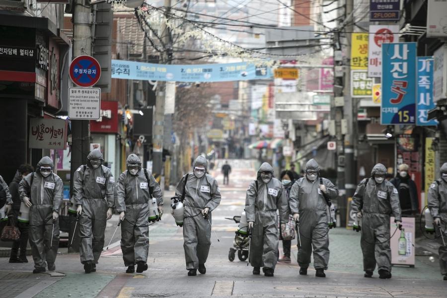 Soldati covid, Coreea de Sud