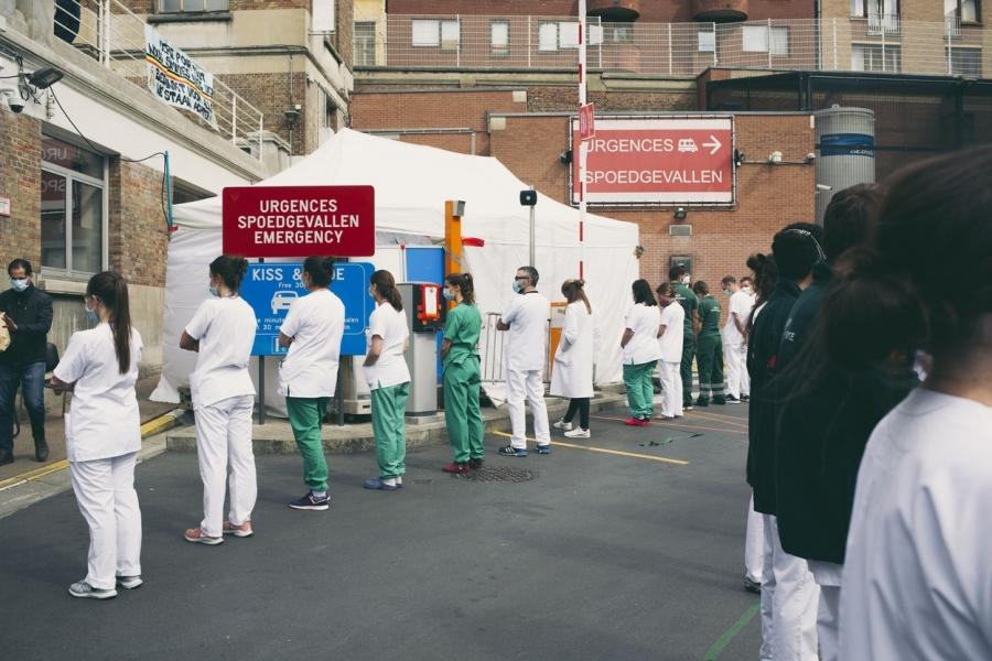 protest spital Belgia