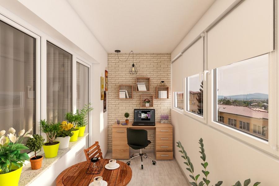 Amenajare birou pe balcon