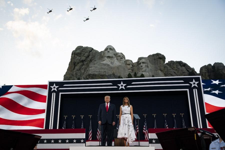 Trump la Rushmore