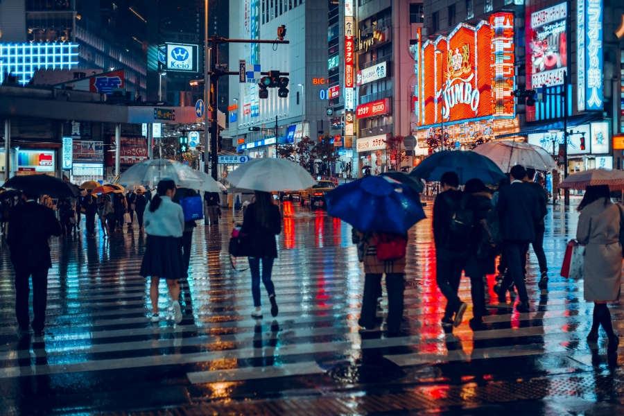 Ploaie în Tokyo