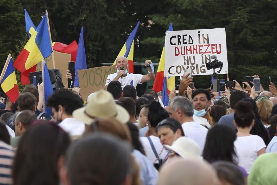protest - coronasceptici - Foto Inquam Photos / Sabin Cirstoveanu