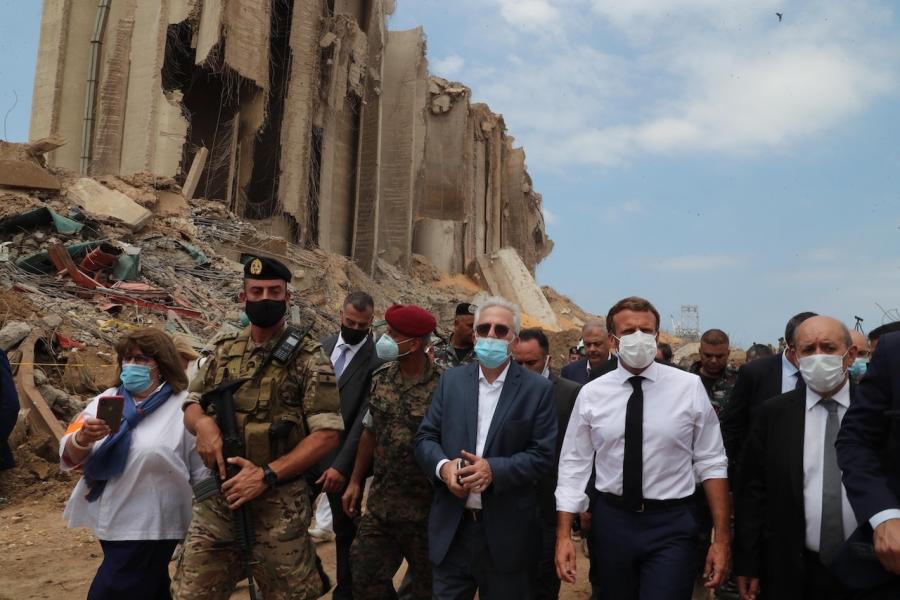 Macron în Liban