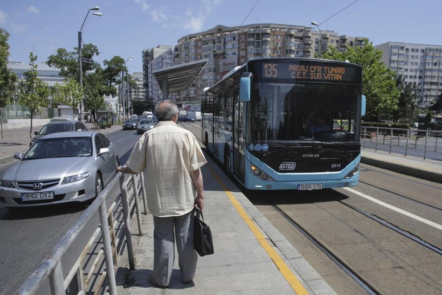 Autobuze pe linia de tramvai