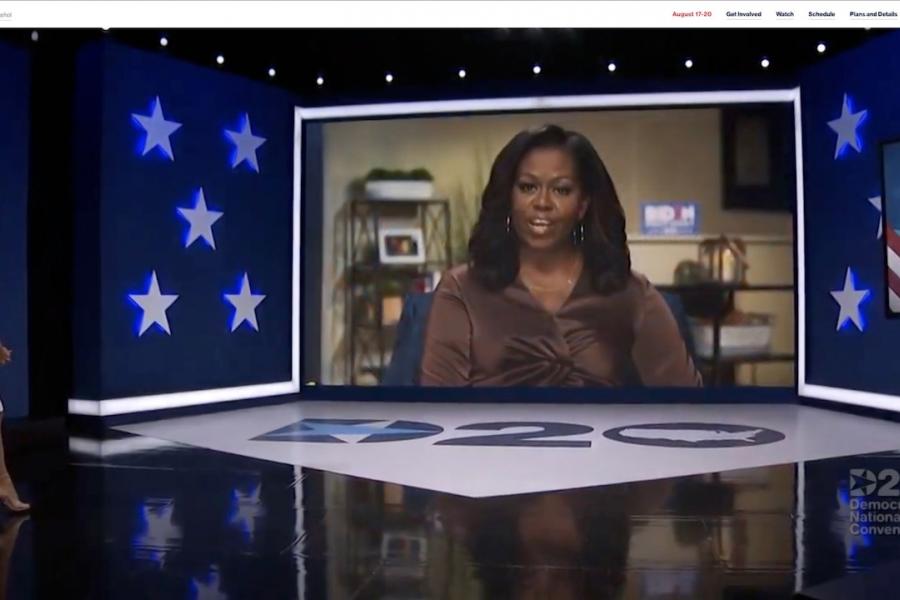 Michelle Obama la Convenția democrată