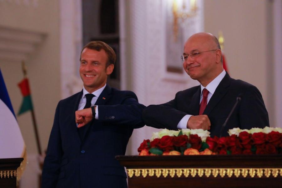 Emmanuel Macron in Irak