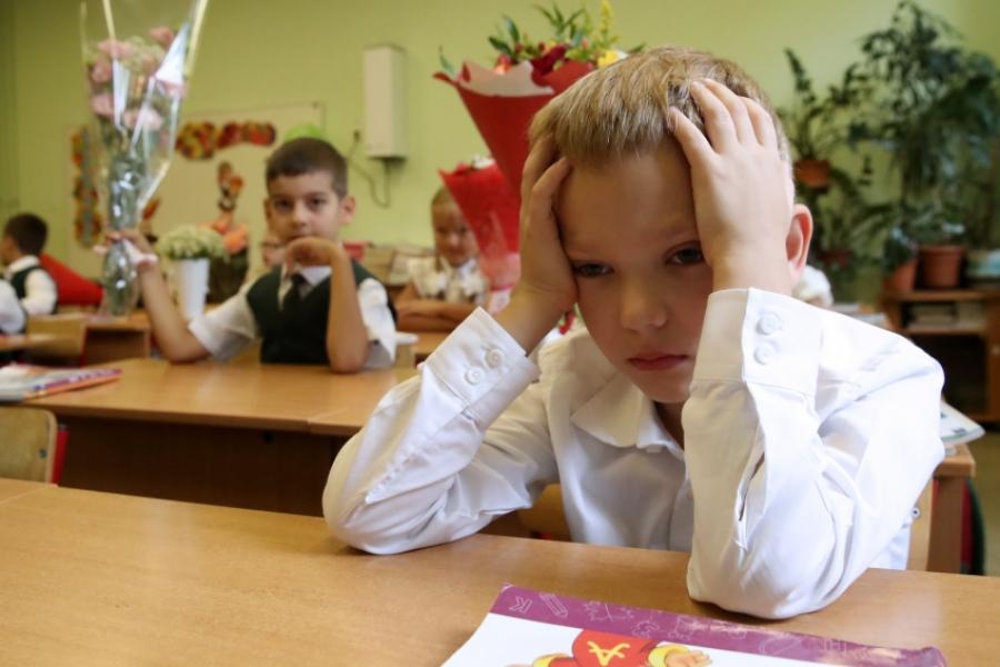 copil la scoala -