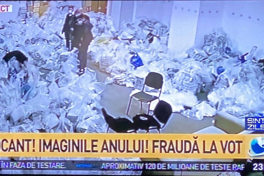 Imagini Antena 3 - saci cu voturi