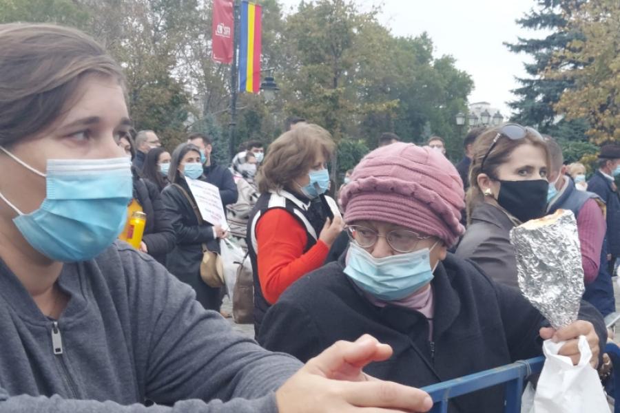 Protest Iasi - Sfanta Parascheva