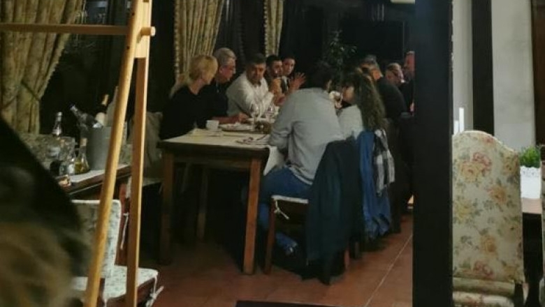 Marcel Ciolacu la restaurant