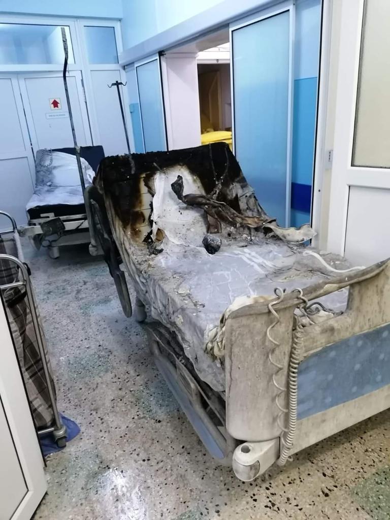 Incendiu Spital Piatra Neamt - sursa Exploziv TV Neamț