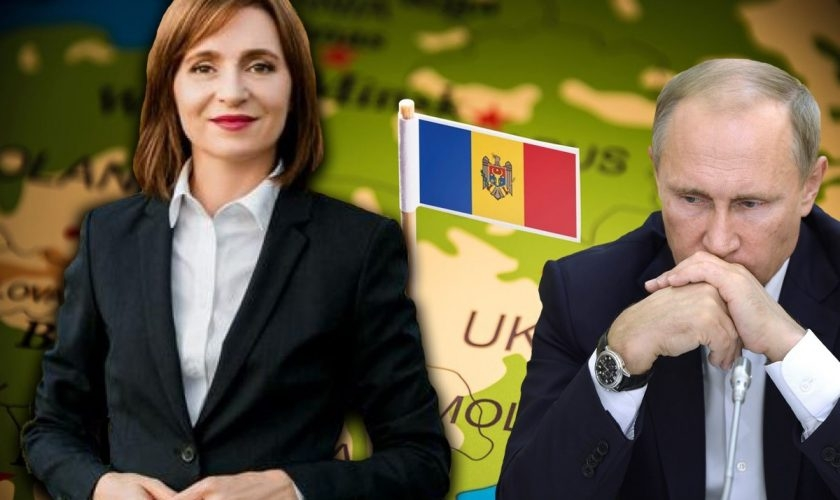 Maia Sandu și Vladimir Putin