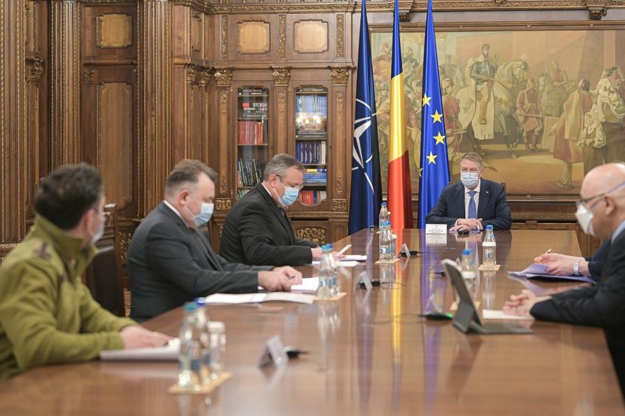 Iohannis la sedinta de Guvern