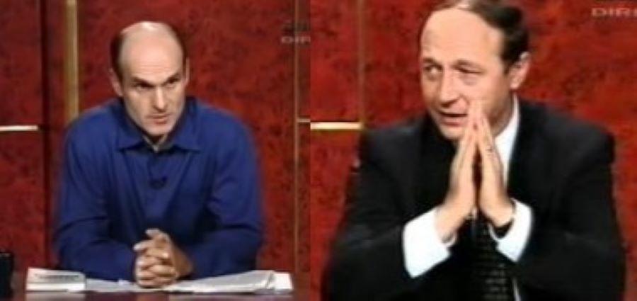Cristian Tudor Popescu si Traian Basescu