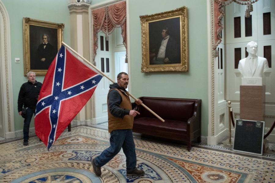 Protestatari în Capitoliu