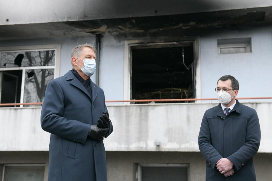 Klaus Iohannis și Vlad Voiculescu la Balș