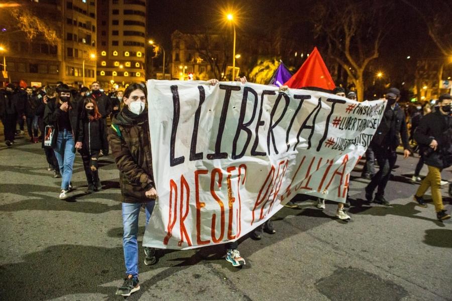 Protest pentru Pablo Hasel
