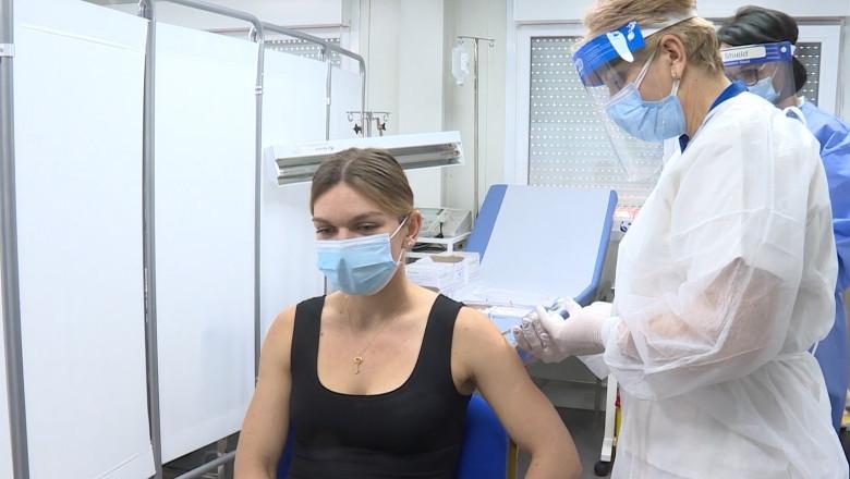 Simona Halep vaccinare