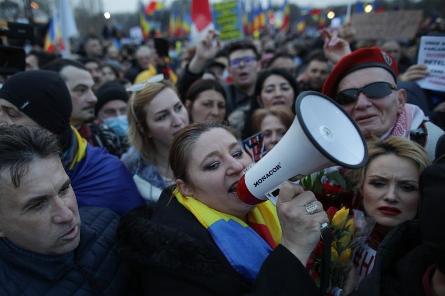 Diana Șoșoacă, protest antimască