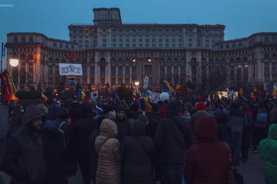 Protest antimască 20 martie 2021