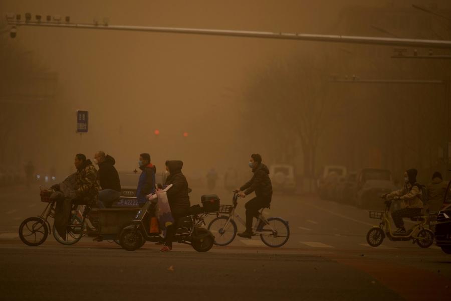 Furtună de nisip în China