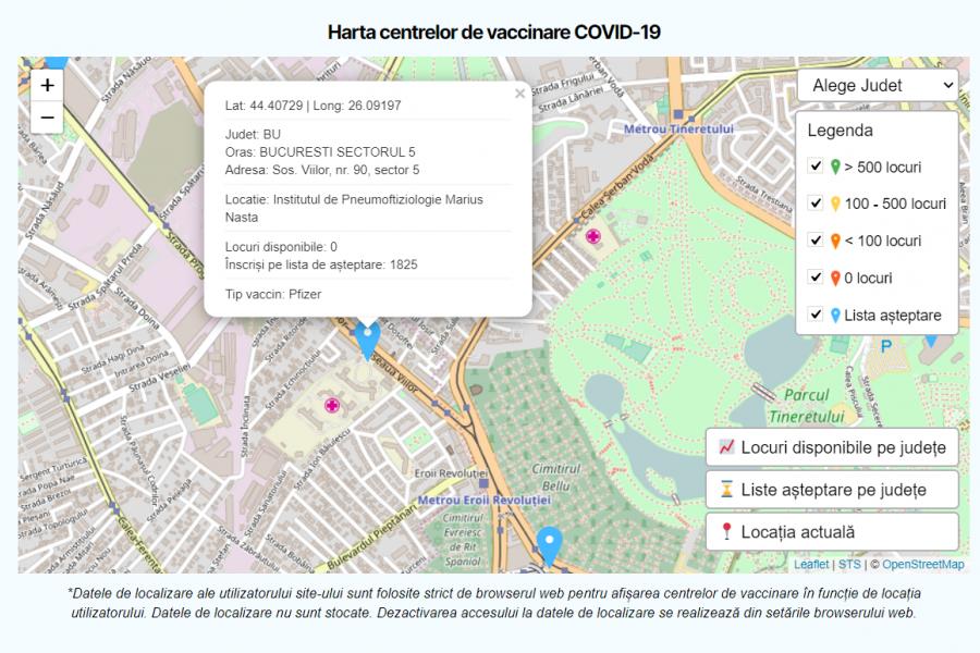 Harta vaccinării