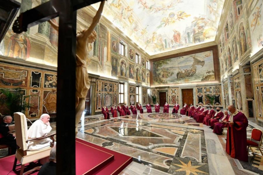 Papa Francisc și înalții prelați