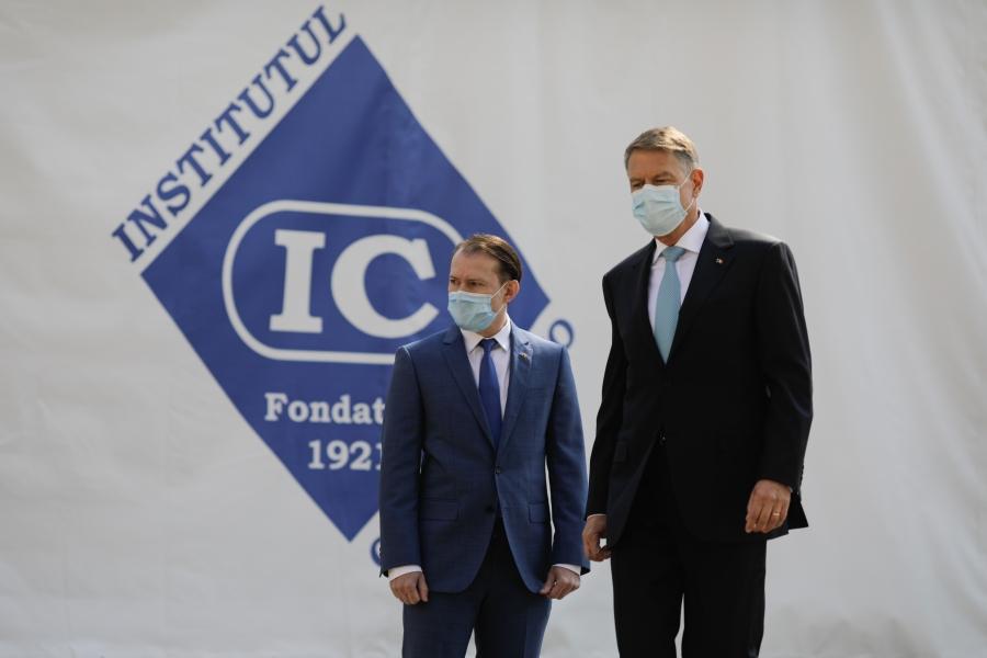 Iohannis și Cîțu la Institutul Cantacuzino