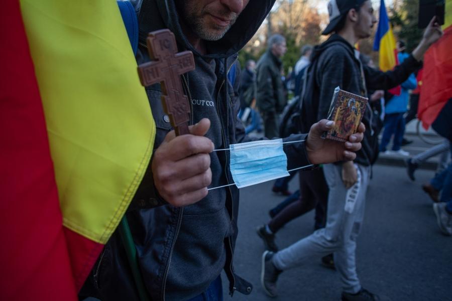 protest antimasca - Inquam Photos / Ilona Andrei