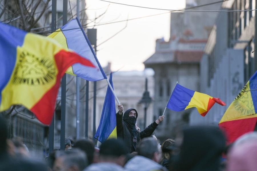 protest antimasca - Foto: Grosescu Alberto Mihai / Shutterstock Editorial / Profimedia