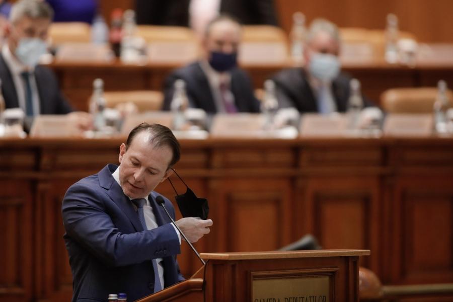 Florin Cîțu în Parlament