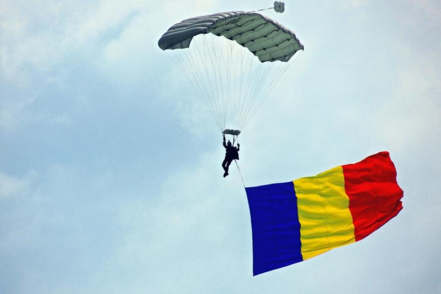 Steagul României pe cer