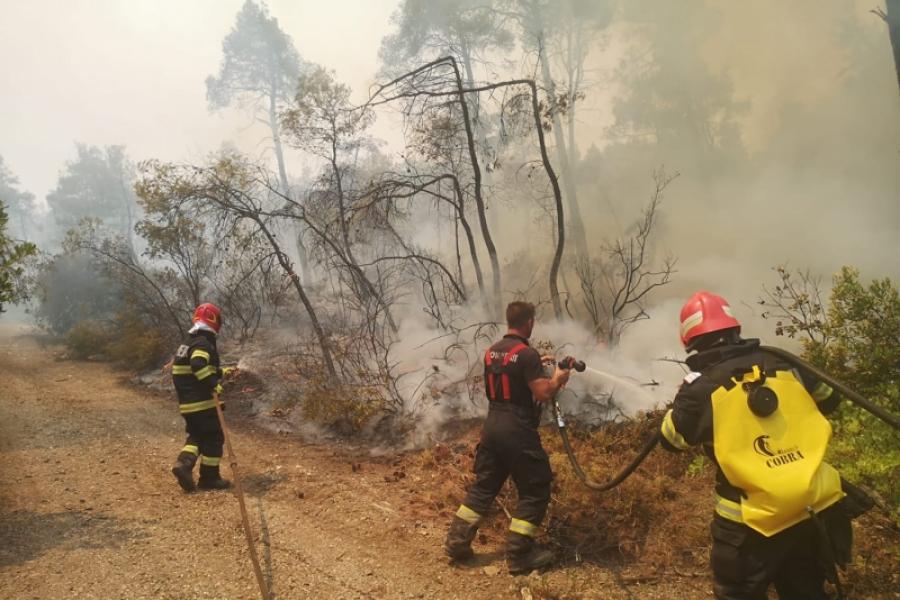 IGSU - pompierii romani in Grecia