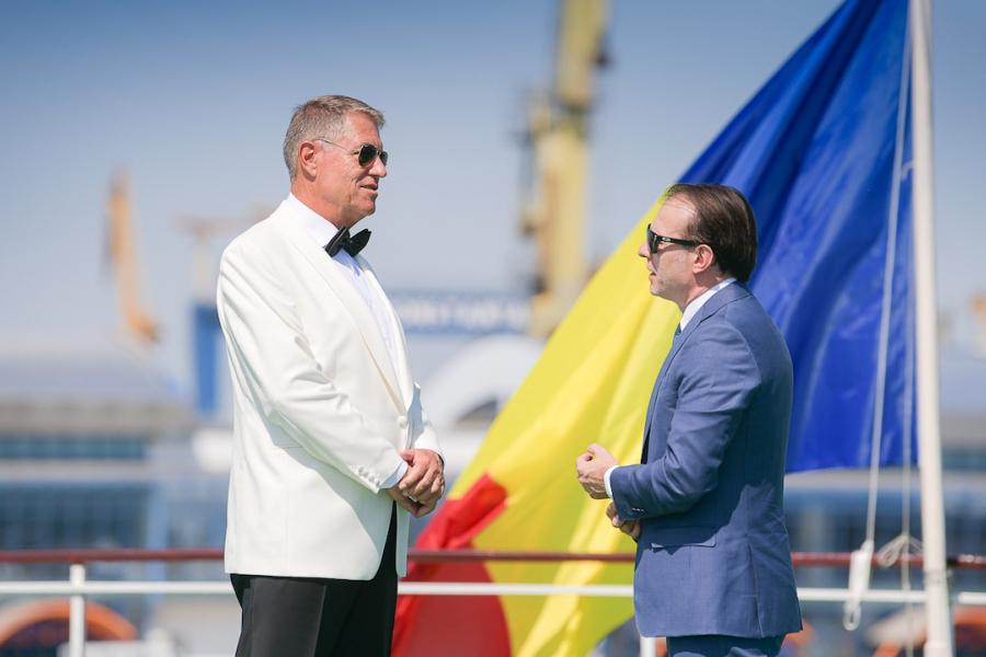 Klaus Iohannis și Florin Cîțu, la Ziua Marinei