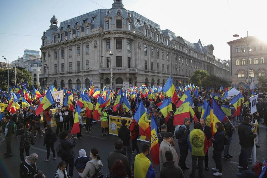 Protest antivaccinist București