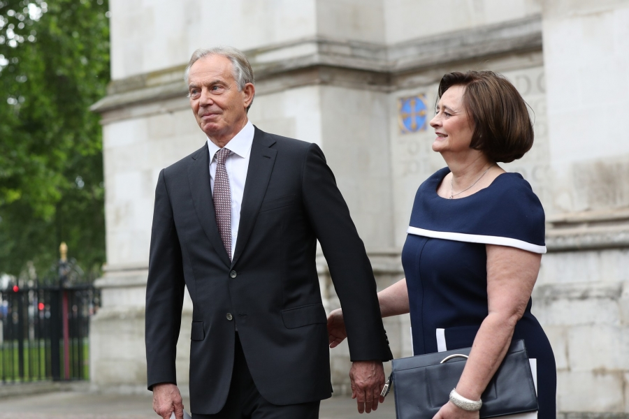 Tony Blair and wife
